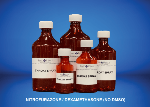 Throat Spray (Nitrofurazone/Dexamethasone) (No DMSO)