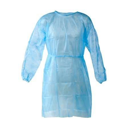 Gown Blue Plastic