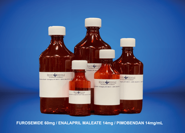 Furosemide 60mg/Enalapril Maleate 14mg/Pimobendan 14mg/mL