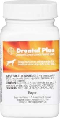 Drontal Plus Medium Dog 26-60lb (Praziquantel/Pyrantel Pamoate/Febantel)