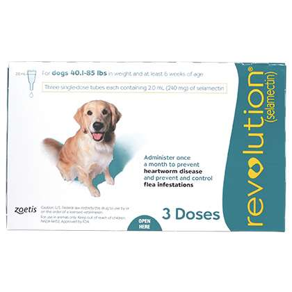 Revolution Canine (Green 40-85 lb)