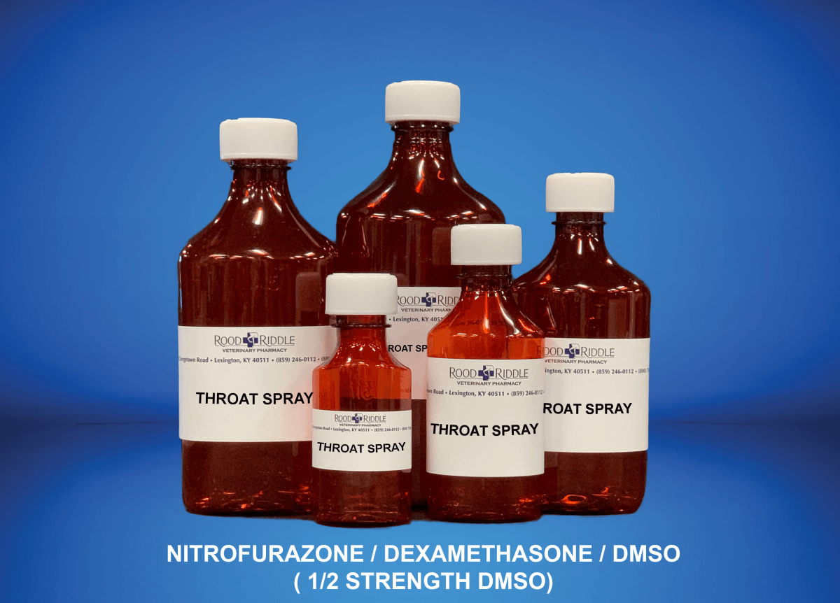 Throat Spray (Nitrofurazone/Dexamethasone/DMSO) (1/2 Strength DMSO)